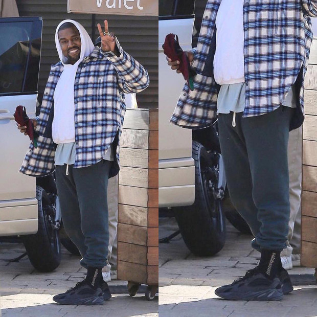 "best website 89d38 8500f Kanye West Spotted In ""Triple Black"" adidas Yeezy 700 Wave ..."