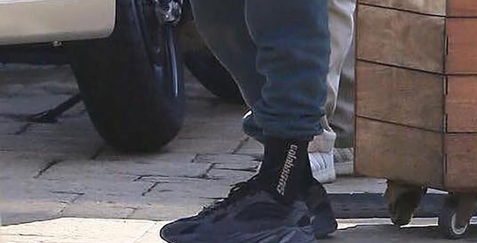 "best website ab9e0 563cf Kanye West Spotted In ""Triple Black"" adidas Yeezy 700 Wave ..."