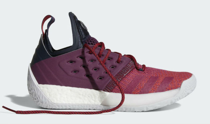 2675d819ed36 Official Look At The adidas Harden Vol. 2 Maroon