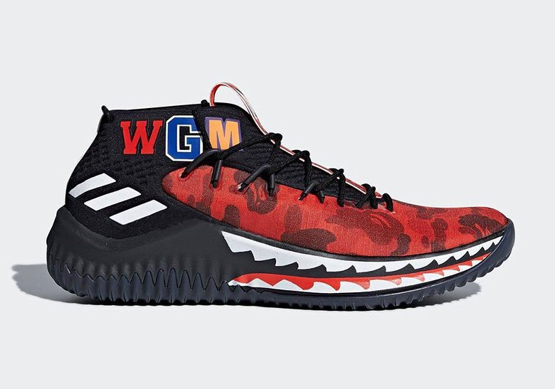 6d261f901 The BAPE x adidas Dame 4 Has A Friends And Family Colorway