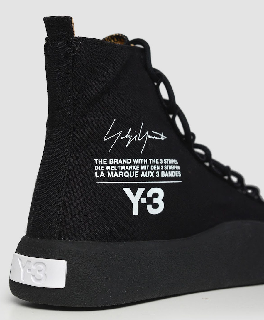 ac79a86ea97d7 You can now find the latest Y-3 Bashyo High-Top Black Sneakers available at  select retailers like Wrong Weather.