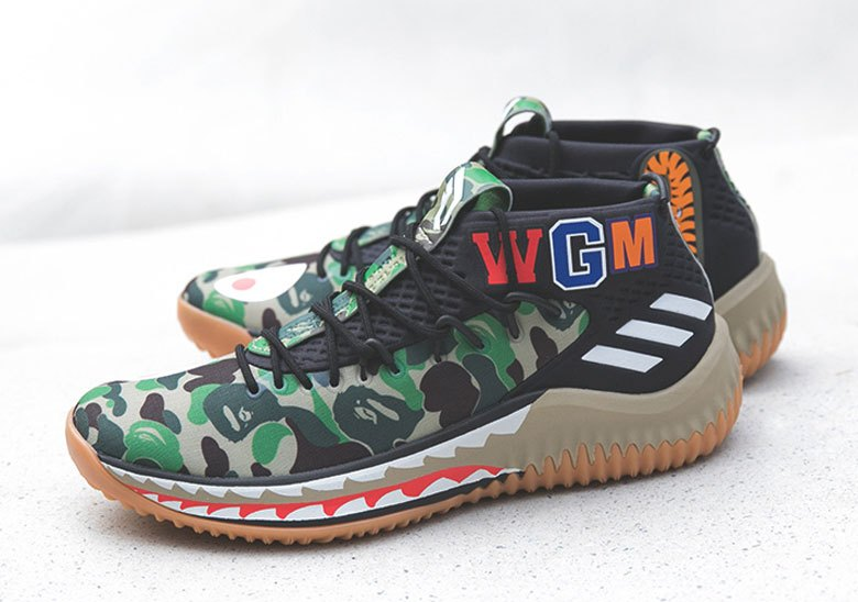 more photos 7fd85 079b1 The BAPE x adidas Dame 4 Is Releasing At Sneaker Boutiques ...